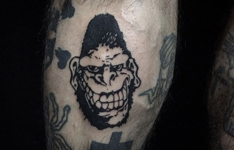 Tatouage Gorilla Biscuits Tattoo logo Valentin Desplanche